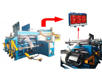 China Automatic LV Transformer Foil Winding Machine for 1200mm Width Copper Strip supplier
